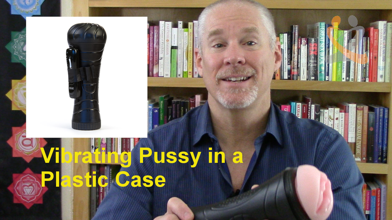 Male Masturbation Sleeve – Vibrating Pussy in a plastic case