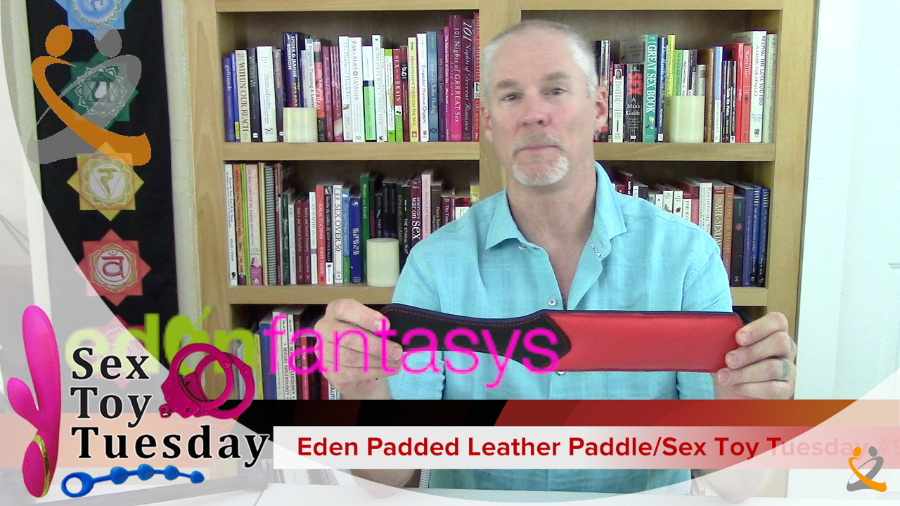 Eden Padded Leather Paddle/ Sex Toy Tuesday #9